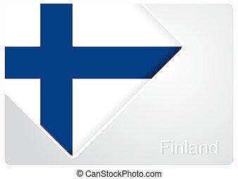Finnish flag design background. Vector illustration. -...