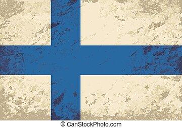 Finnish flag Grunge background. Vector illustration Eps 8.