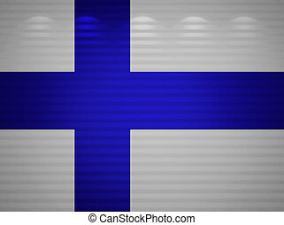 Finnish flag wall, abstract background