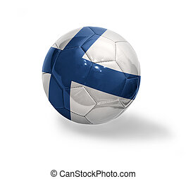 Finnish Football - Football ball with the national flag of...