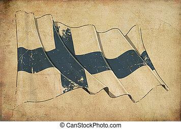 Finnish Grunge Flag Textured Background