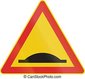 Finnish Speed Bump Sign