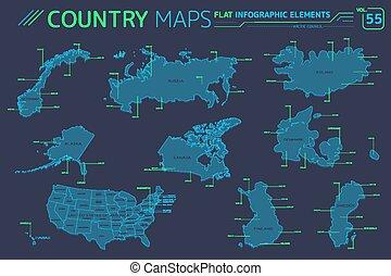Finnland, karten, norwegen, schweden. Finnland, karten
