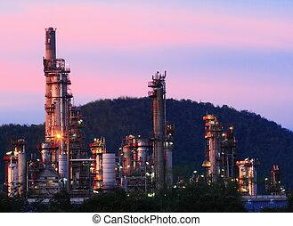 finomító, berendezés, petrolkémiai, olaj