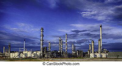 finomító, iparág, olaj