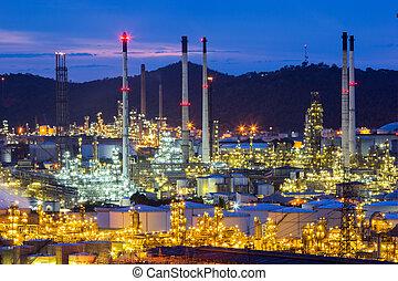 finomító, olaj, gyár