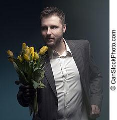 finom, ember, hatalom virág