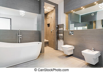 finom, klasszikus, fürdőszoba