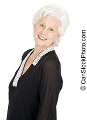 finom, nő, öregedő