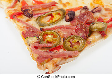 finom, pizza, elszigetelt, olasz, ov