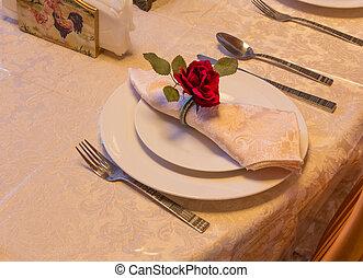 finom, vacsora tányér, beállítás