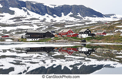 finse, norvégia, nyár