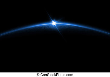 finsternis, blaues, -, lunar, sonnenaufgang