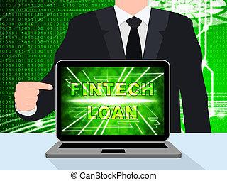 fintech, finance, prêt, illustration, crédit, p2p, 3d