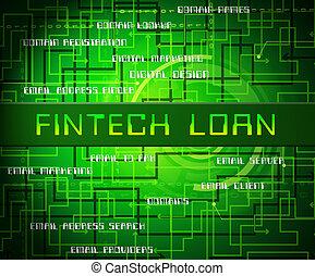Fintech Loan P2p Finance Credit 2d Illustration