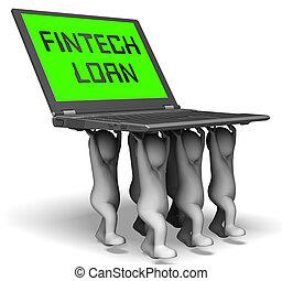 Fintech Loan P2p Finance Credit 3d Rendering