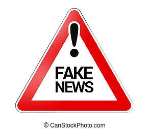 finto, notizie, segno, pericolo