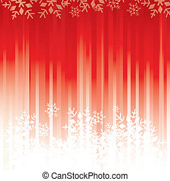 fiocchi neve, fondo, rosso