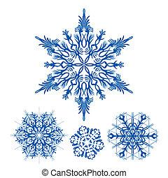 fiocchi neve, natale, icona