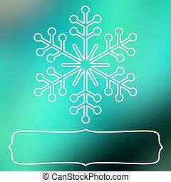 fiocco di neve, cornice