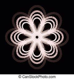 fiocco di neve, fiore, scheda, vettore, illustrazione