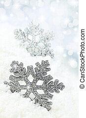 fiocco di neve, fondo, neve