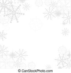 fiocco di neve, fondo, vectors