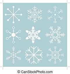 fiocco di neve, icone