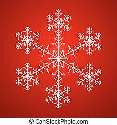 fiocco di neve, rosso