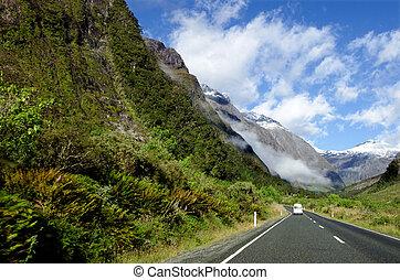 Campervan trip in Fiordland, New Zealand
