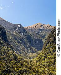 fiordo, de, dudoso, sonido, en, nueva zelandia