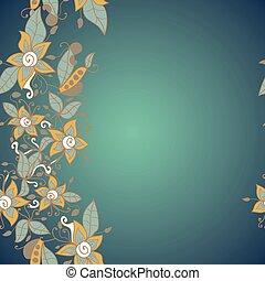 fiore, astratto, pattern., seamless, struttura, vettore