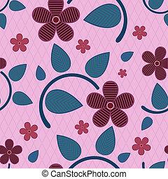 fiore, astratto, pattern., seamless, vettore, strisce