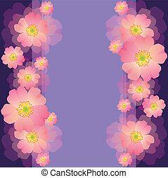 fiore, augurio, anniversario, compleanno, invito, matrimonio, o, scheda
