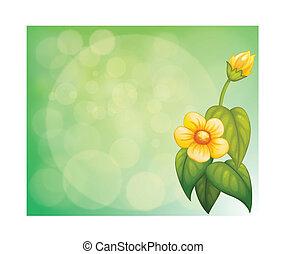 fiore carta, giallo