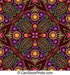 fiore, colorito, astratto, pattern., seamless, vettore