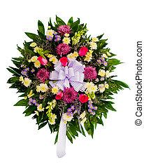 fiore, colorito, disposizione