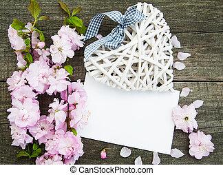 fiore, cuore, sakura