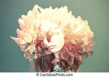 fiore, faccia