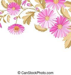 fiore, fondo, con, viola, flowers.