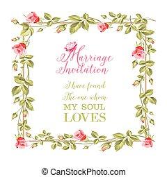 fiore, frame., matrimonio