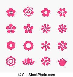 fiore, icona
