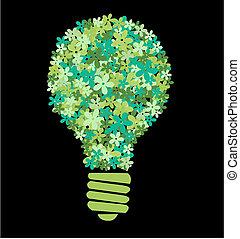 fiore lampadina, verde