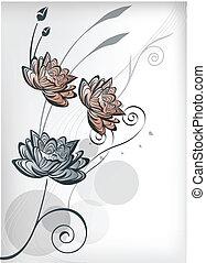 fiore loto, orientale
