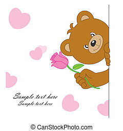fiore, orso
