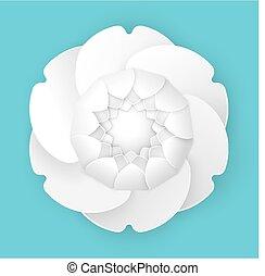 fiore, peonia, tre dimensionale, disegno, origami, elegante