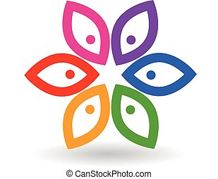 fiore, persone, logotipo