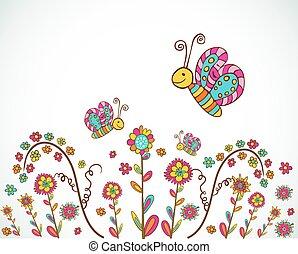 fiore primaverile, fondo, bello
