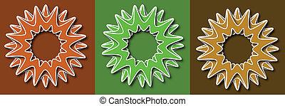 fiore primaverile, retro, vettore, illustrazione
