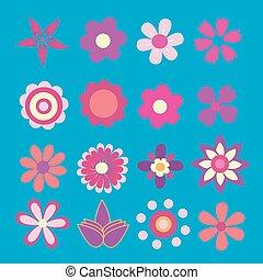 fiore primaverile, vettore, illustrazione